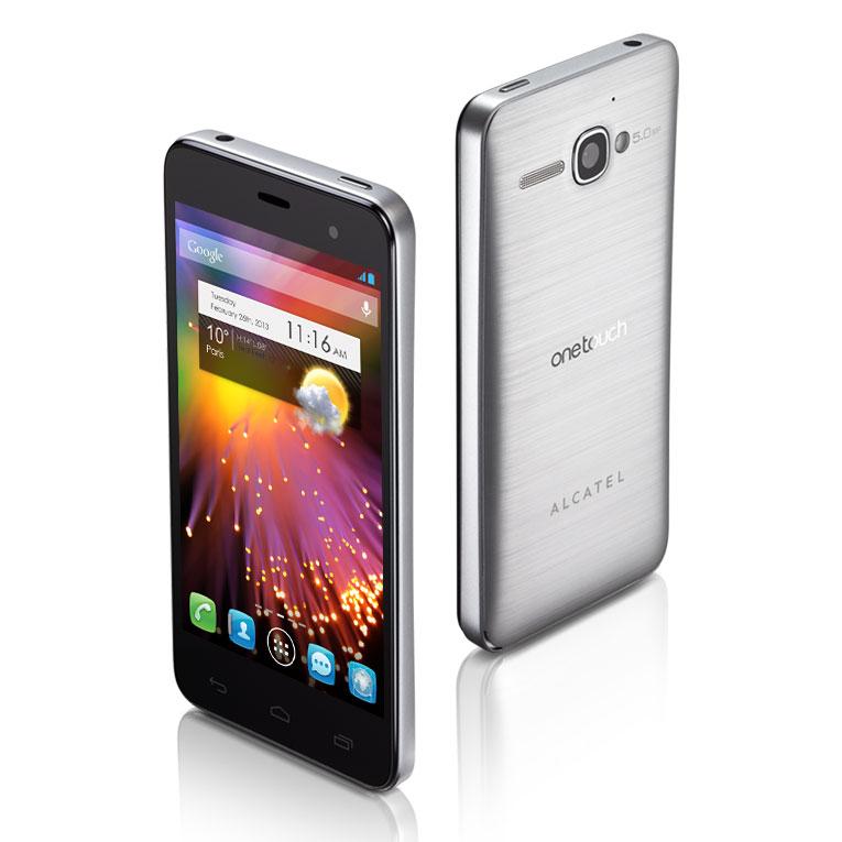 """Mobile & smartphone Alcatel 6010D One Touch Star Argent Smartphone 3G+ Dual SIM avec écran tactile 3.5"""" sous Android 4.1"""
