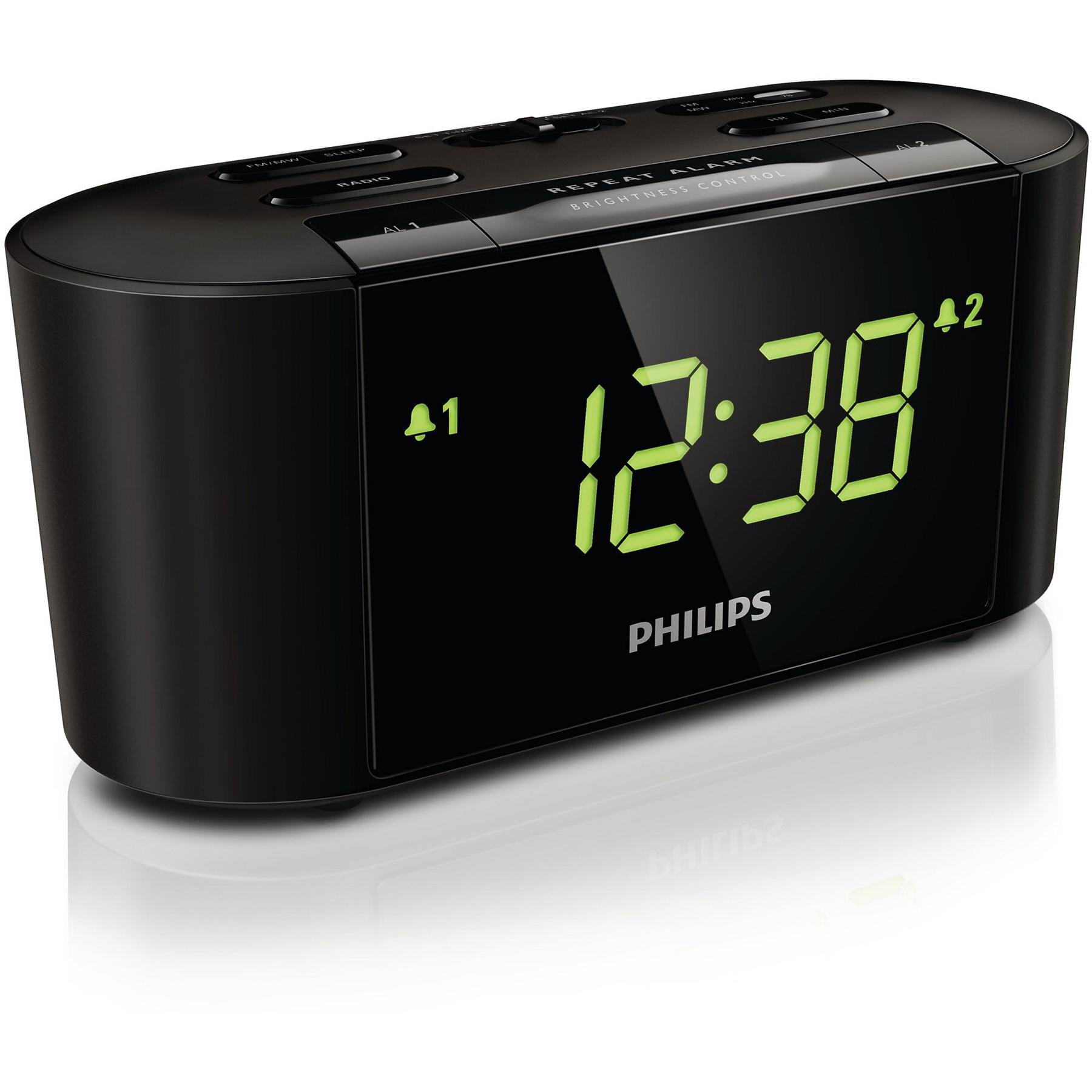 Radio & radio réveil Philips AJ3500 Radio réveil avec affichage grand taille