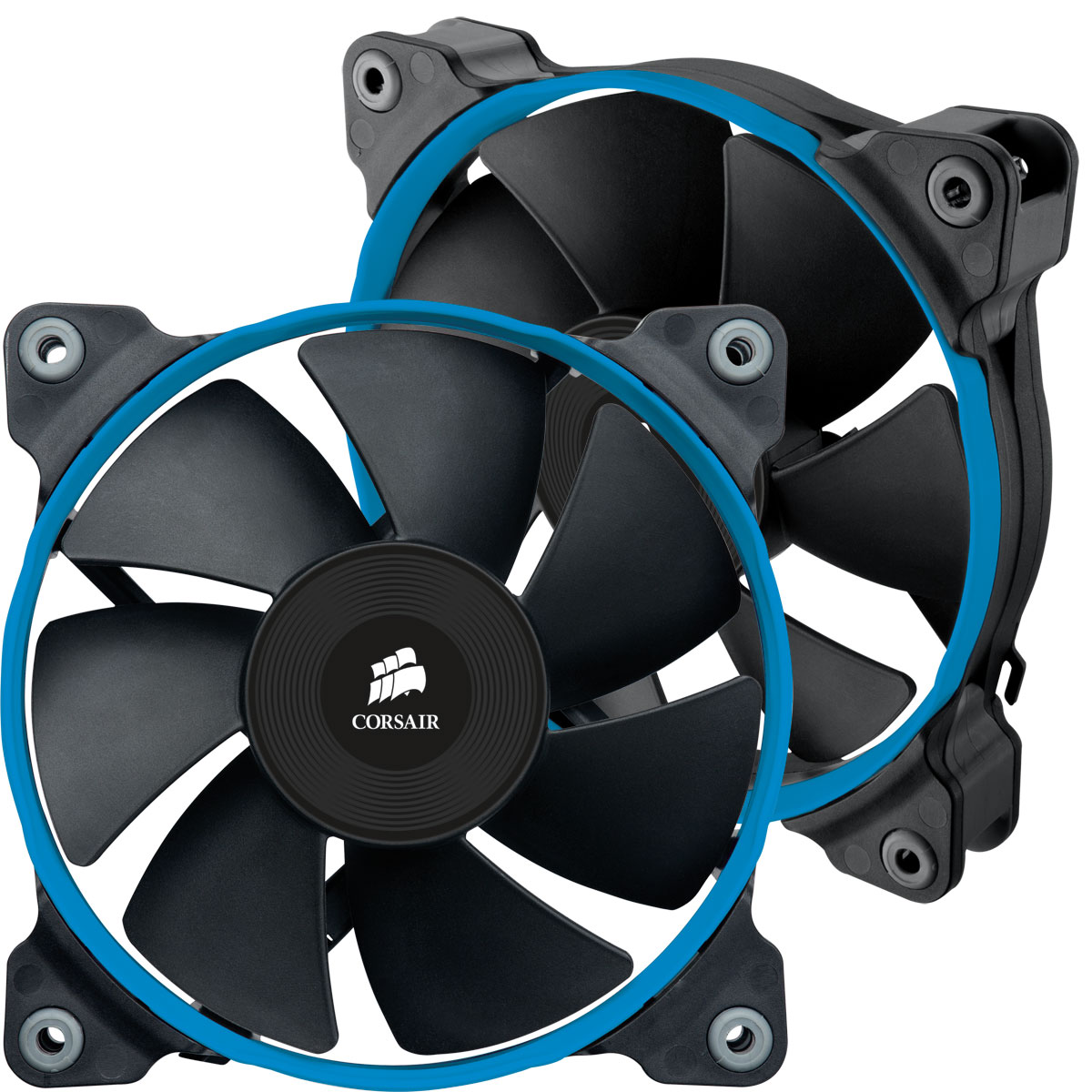 Ventilateur boîtier Corsair Air Series SP120 PWM High Performance Edition High Static Pressure Dual Pack Kit de 2 ventilateurs de boîtier PWM hautes performances 120 mm