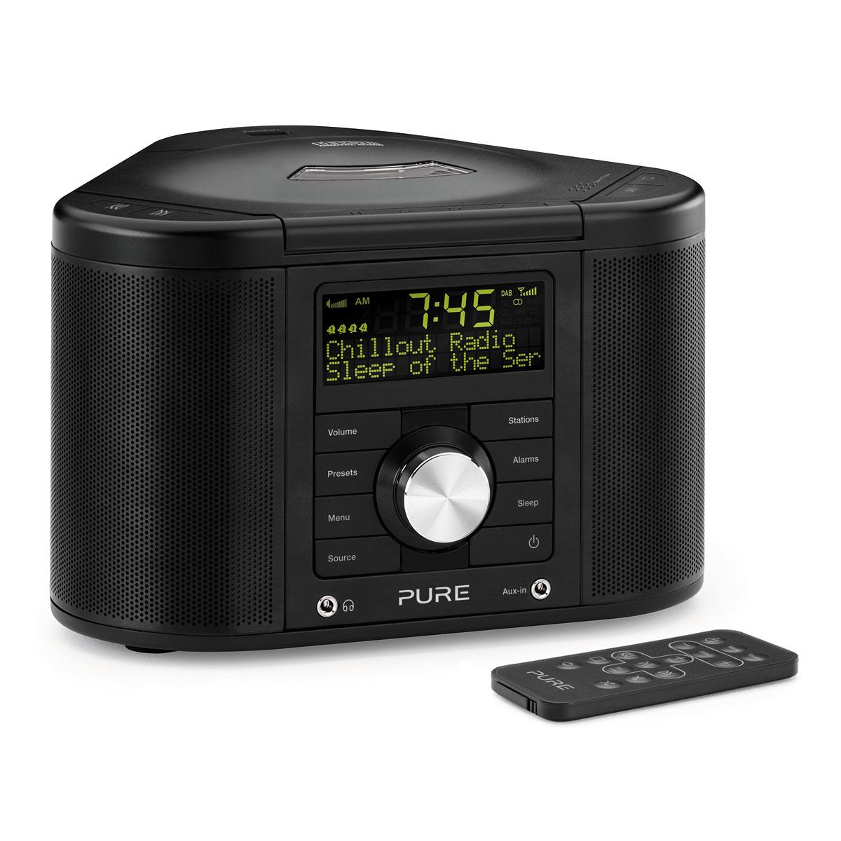 pure chronos cd series ii noir radio radio r veil pure sur. Black Bedroom Furniture Sets. Home Design Ideas