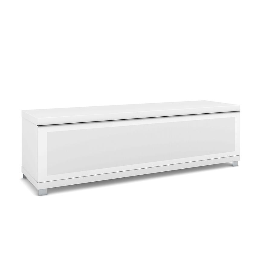 Elmob large lr 160 02 blanc meuble tv elmob sur - Meuble ecran videoprojecteur ...