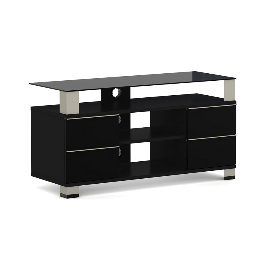 elmob polaris po 110 04 noir meuble tv elmob sur. Black Bedroom Furniture Sets. Home Design Ideas