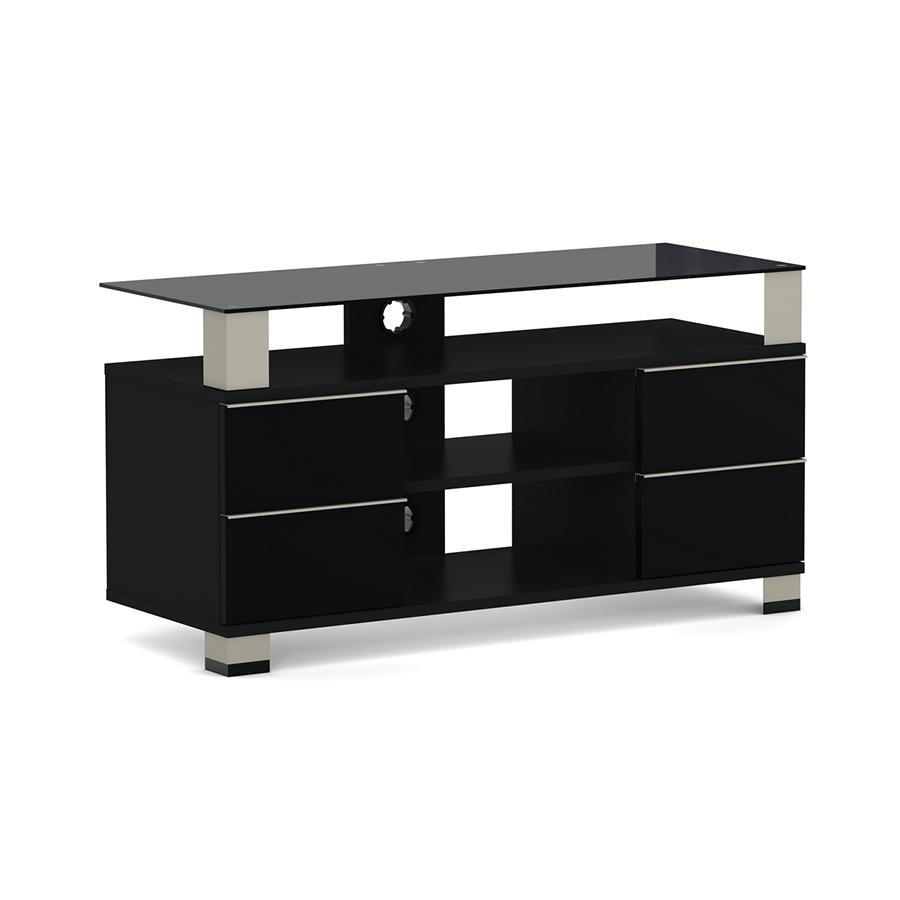 Elmob polaris po 110 04 noir meuble tv elmob sur - Meuble tele enceinte ...