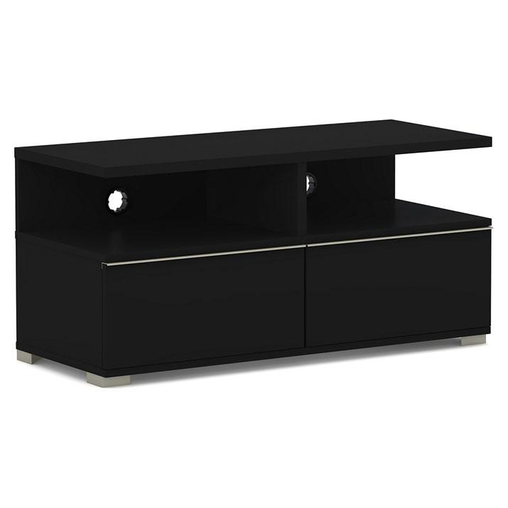 Elmob mensa me 110 02 noir meuble tv elmob sur ldlc - Meuble pour ecran plat ...