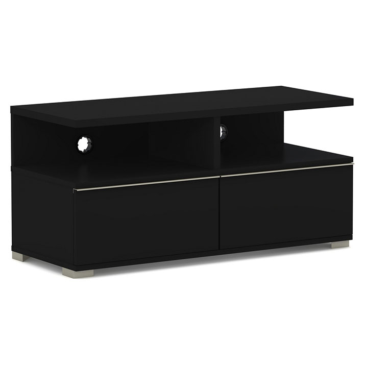 Elmob mensa me 110 02 noir meuble tv elmob sur ldlc for Meuble tv ecran plat