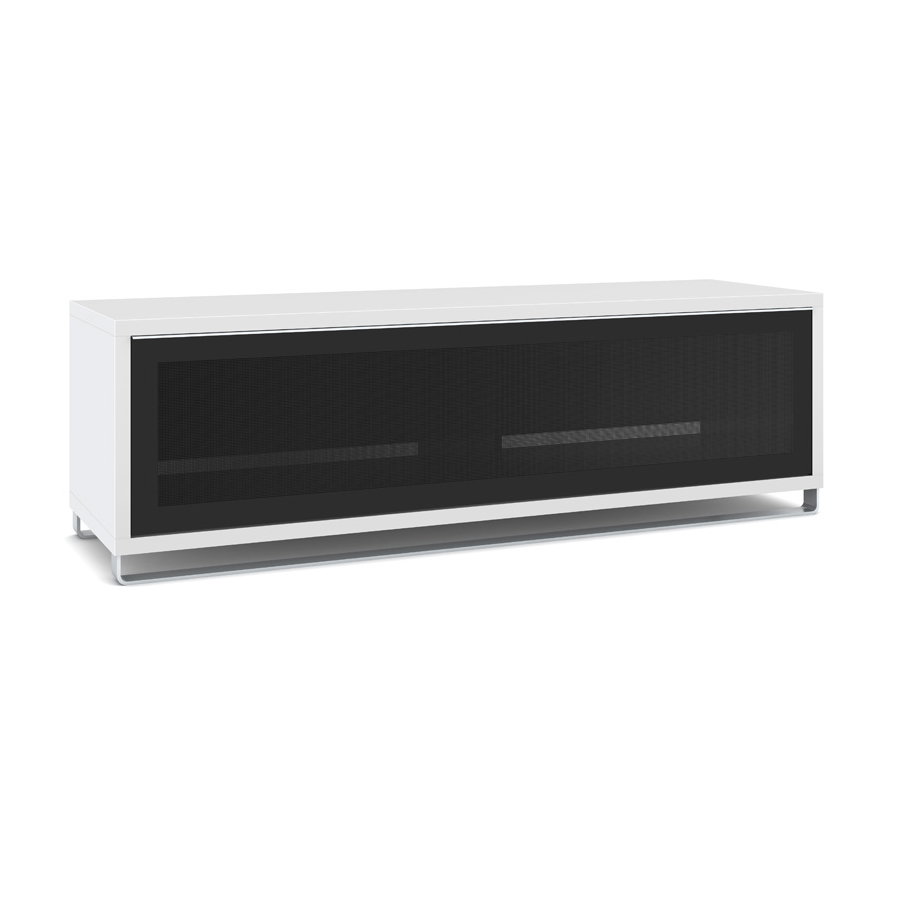 Elmob exclusive ex 160 01 blanc meuble tv elmob sur for Meuble tv pour grand ecran plat