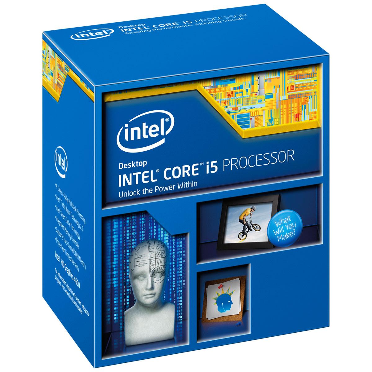 Processeur Intel Core i5-4670K (3.4 GHz) Processeur Quad Core Socket 1150 Cache L3 6 Mo Intel HD Graphics 4600 0.022 micron (version boîte - garantie Intel 3 ans)