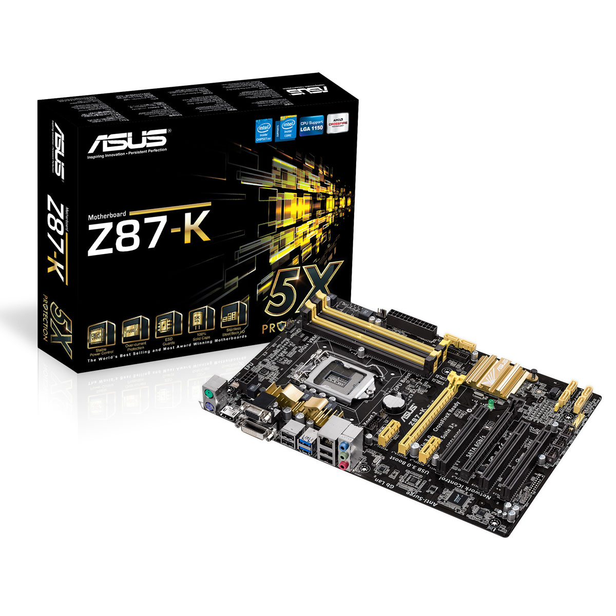 Carte mère ASUS Z87-K C2 Carte mère ATX Socket 1150 Intel Z87 Express - SATA 6Gb/s - USB 3.0 - 1x PCI-Express 3.0 16x + 1x PCI-Express 2.0 16x