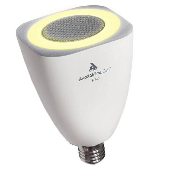 Dock & Enceinte Bluetooth AwoX StriimLIGHT Ampoule LED avec haut parleur Bluetooth intégré