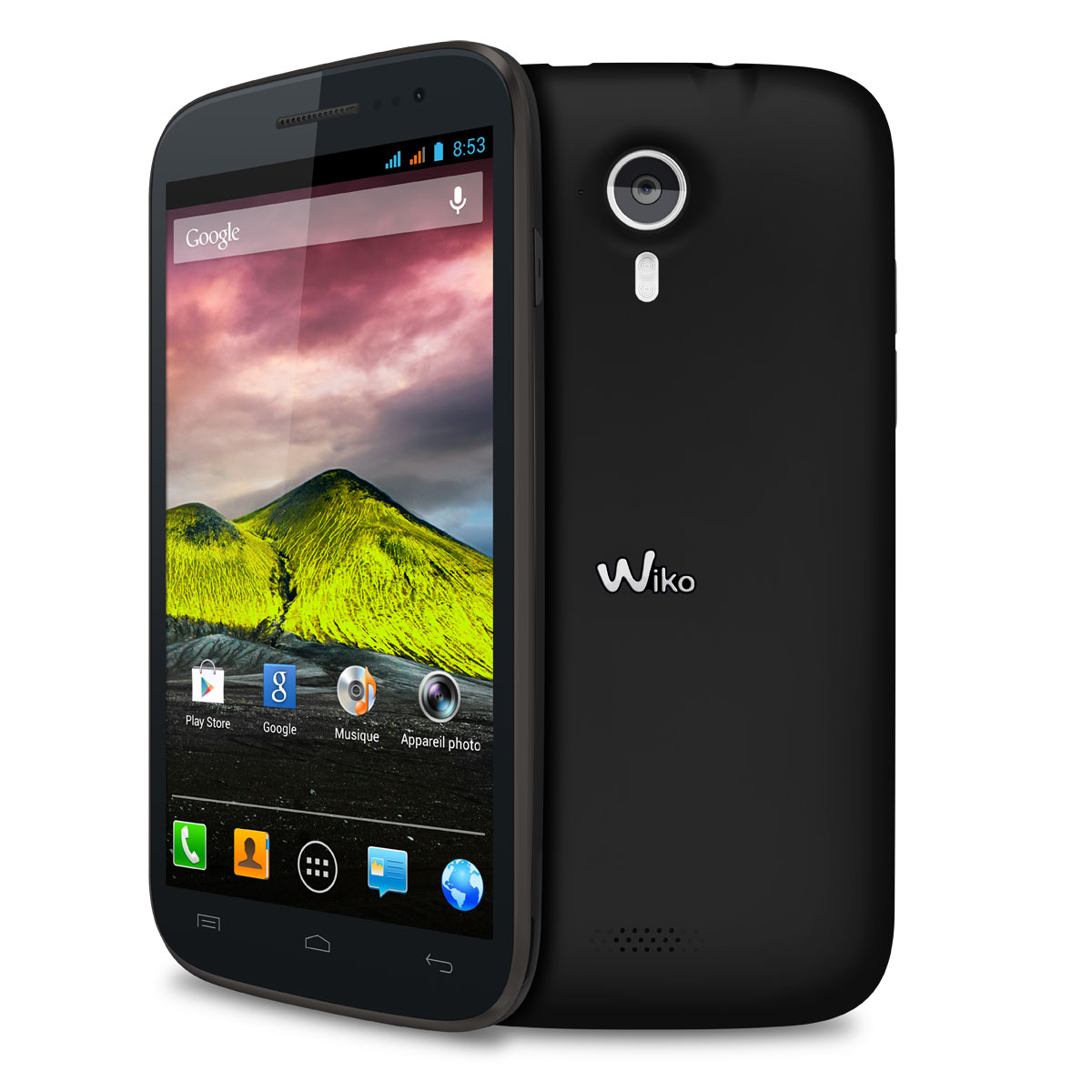 wiko cink five noir mobile smartphone wiko sur. Black Bedroom Furniture Sets. Home Design Ideas