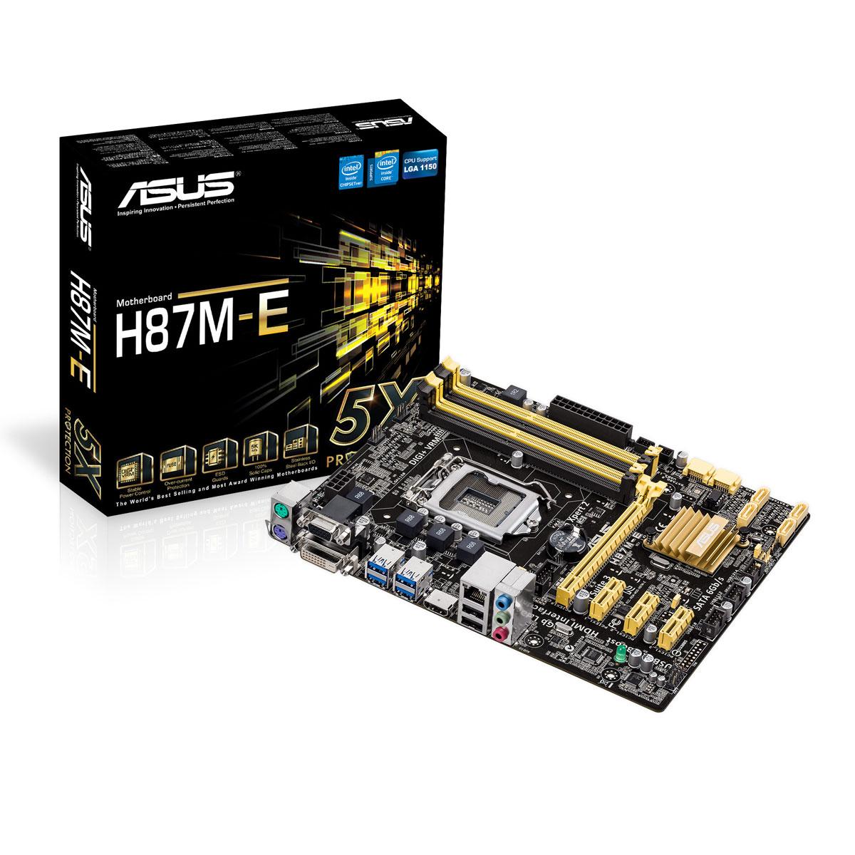 Carte mère ASUS H87M-E C2 Carte mère Micro ATX Socket 1150 Intel H87 Express - SATA 6Gb/s - USB 3.0 - 1x PCI-Express 3.0 16x