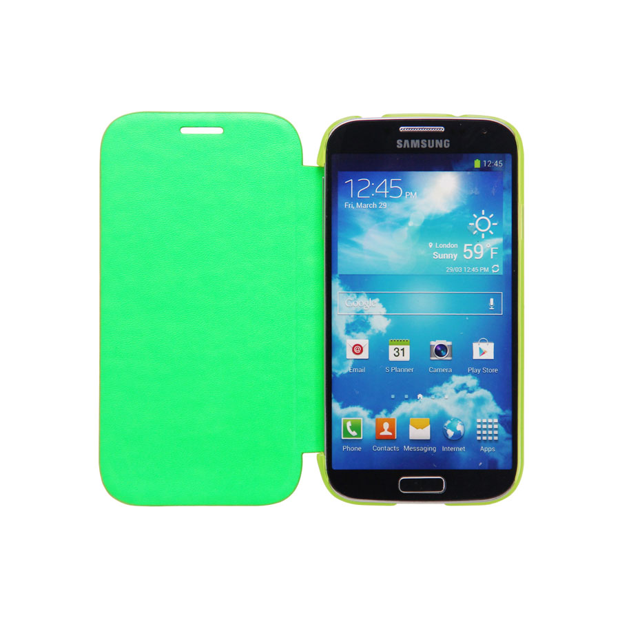 Etui téléphone Case Scenario Bookcase Vert Samsung Galaxy S4 Etui de protection pour Samsung Galaxy S4