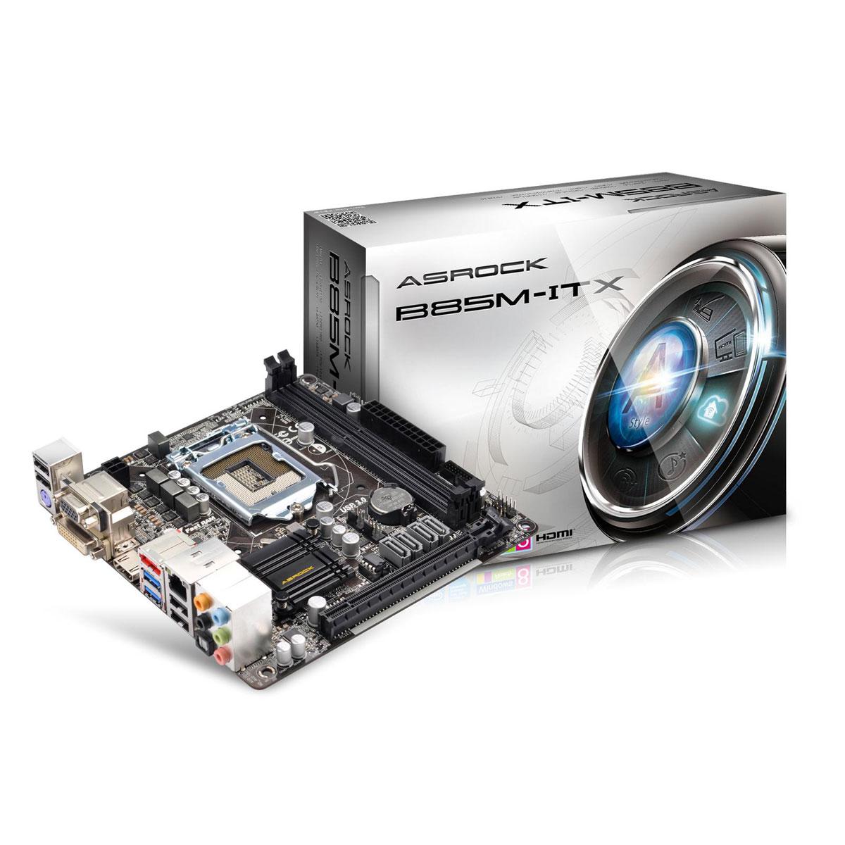 Carte mère ASRock B85M-ITX Carte mère Mini ITX Socket 1150 Intel B85 Express - SATA 6Gb/s - USB 3.0 - 1x PCI-Express 3.0 16x