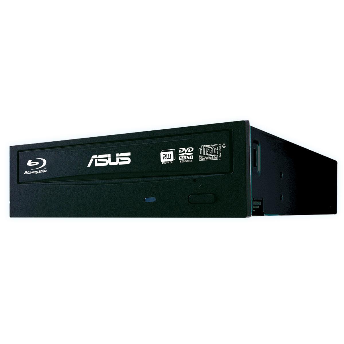 Lecteur graveur ASUS BC-12D2HT Noir (bulk) Lecteur Blu-ray / Graveur DVD - BD-R/RE 12/8x DL(BD-R/RE) 8/6x DVD(+/-)RW/RAM 8/6/5 DL(+/-) 8/8x CD-RW 24x Serial ATA compatible M-Disc (bulk)