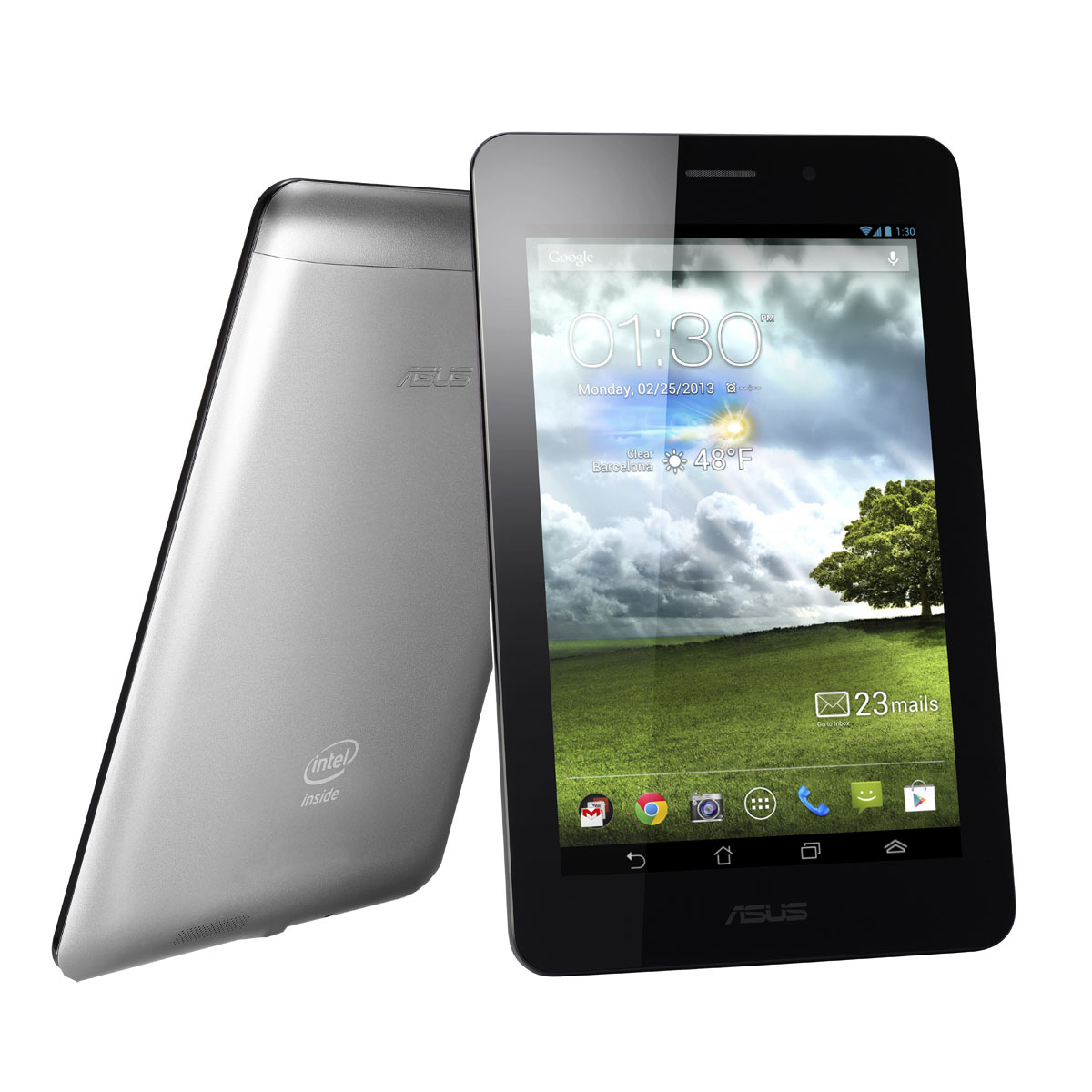 "Tablette tactile ASUS Fonepad Gris ME371MG-1B035A Tabphone - Intel Atom Z2420 1 Go SSD 16 Go 7"" LED Tactile Wi-Fi N/Bluetooth/3G Webcam Android 4.1"