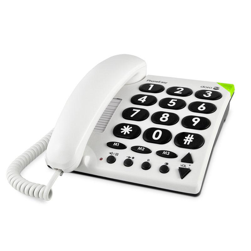 Téléphone filaire Doro PhoneEasy 311c Téléphone filaire à grosses touches