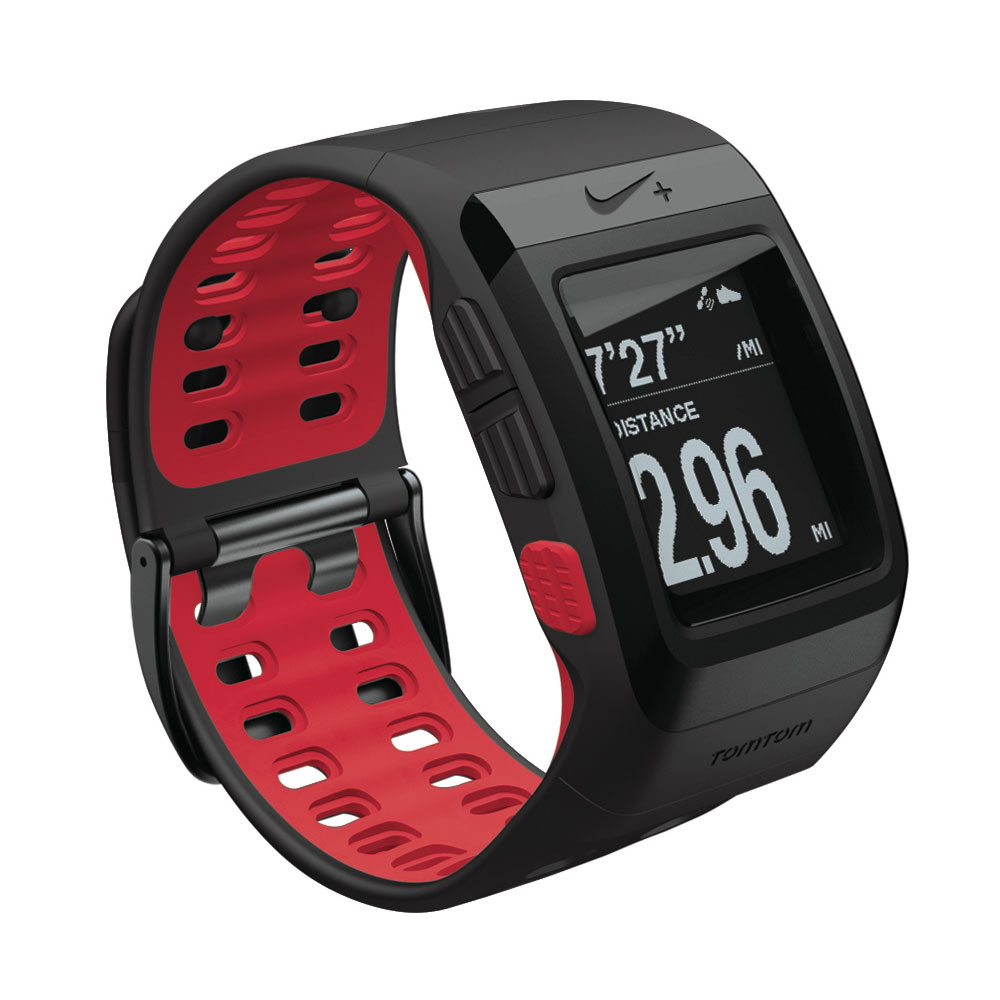 tomtom montre nike sportwatch noir rouge montre running tomtom sur. Black Bedroom Furniture Sets. Home Design Ideas
