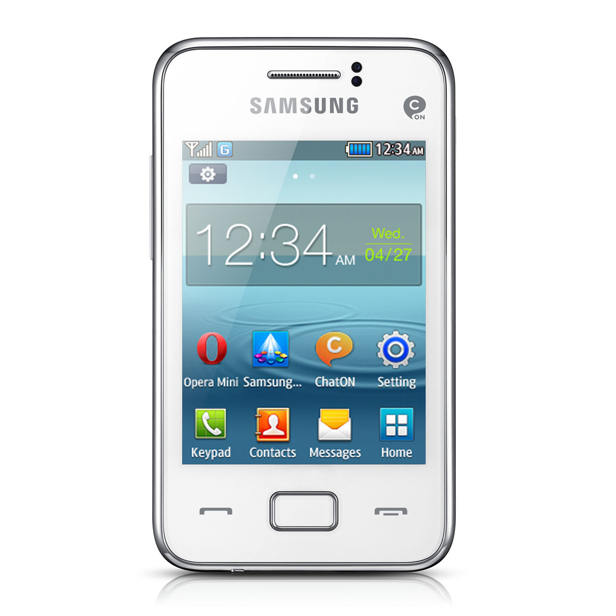 samsung rex 80 gt s5220r blanc mobile smartphone. Black Bedroom Furniture Sets. Home Design Ideas