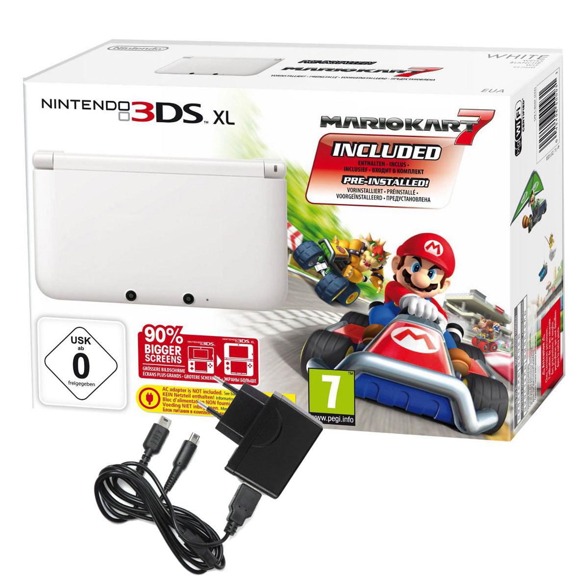 Nintendo 3ds Xl Blanche Mario Kart 7 Under Control Max