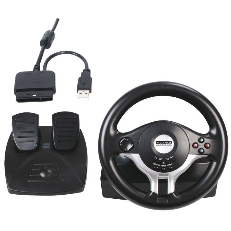 k nig game wheel pedals volant pc k nig sur. Black Bedroom Furniture Sets. Home Design Ideas