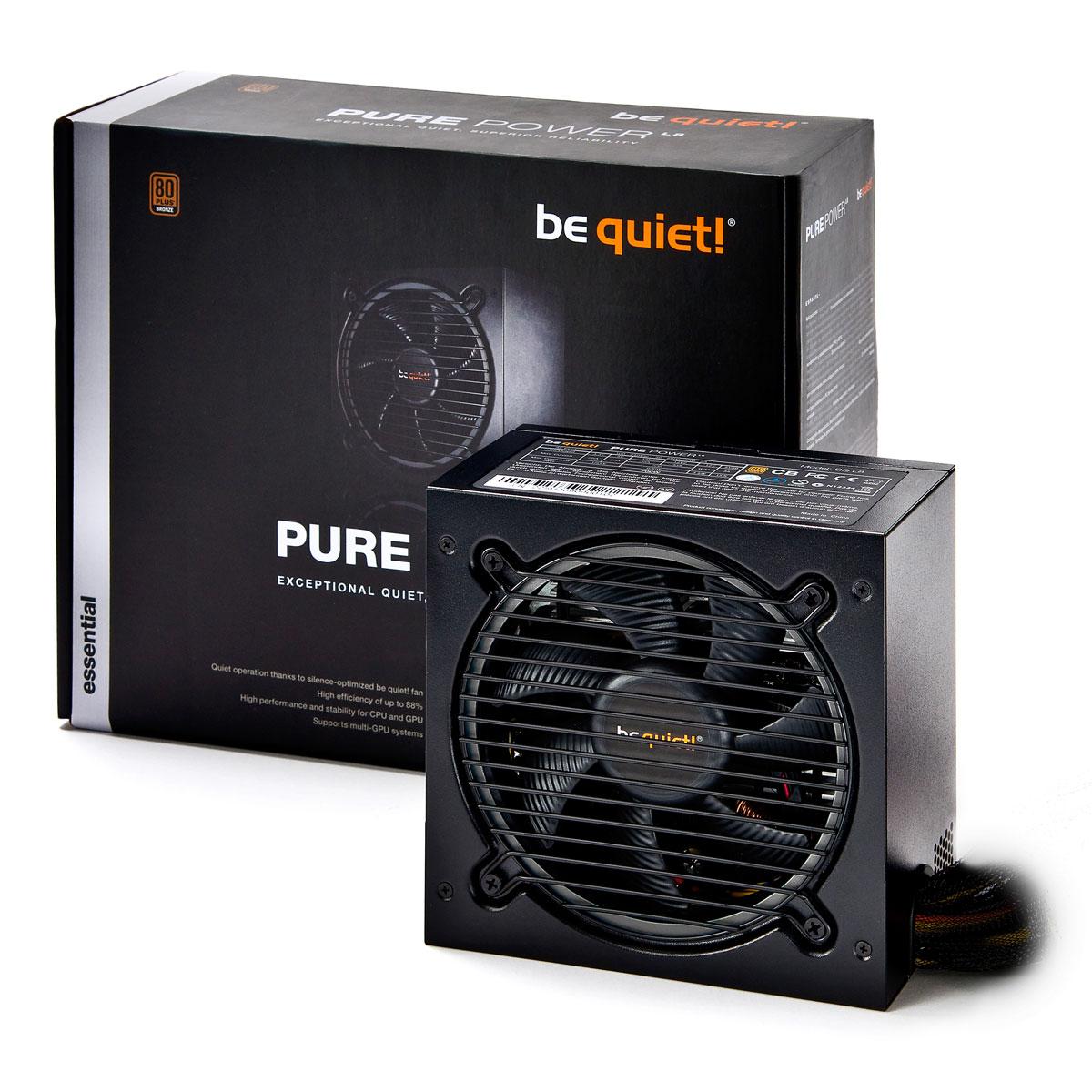 Alimentation PC be quiet! Pure Power L8 350W 80PLUS Bronze Alimentation 350W ATX 12V 2.4 / EPS 12V 2.92 (Garantie 3 ans constructeur) - 80PLUS Bronze