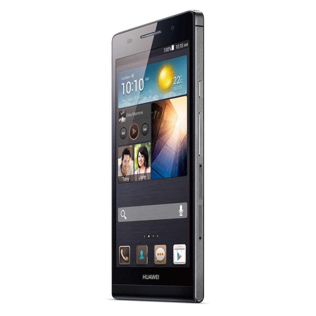 """Mobile & smartphone Huawei Ascend P6 Noir Smartphone 3G+ avec écran tactile HD 4.7"""" sous Android 4.2"""