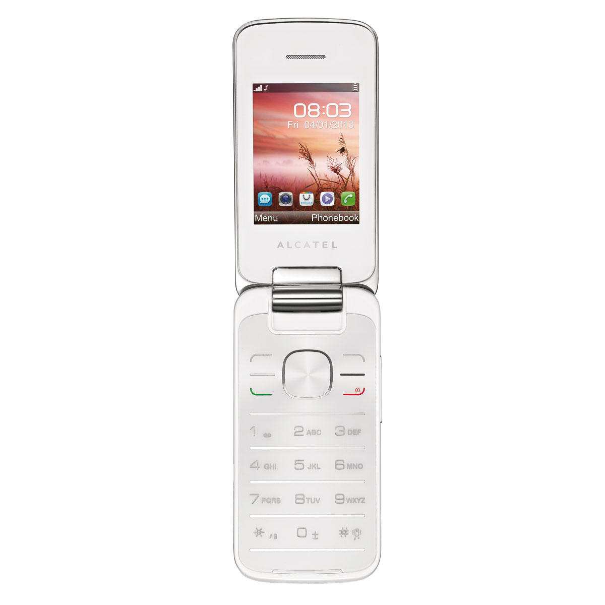 alcatel 2010 pure white mobile smartphone alcatel sur. Black Bedroom Furniture Sets. Home Design Ideas