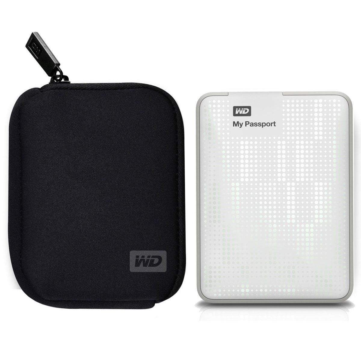 western digital my passport 500 go blanc my passport. Black Bedroom Furniture Sets. Home Design Ideas