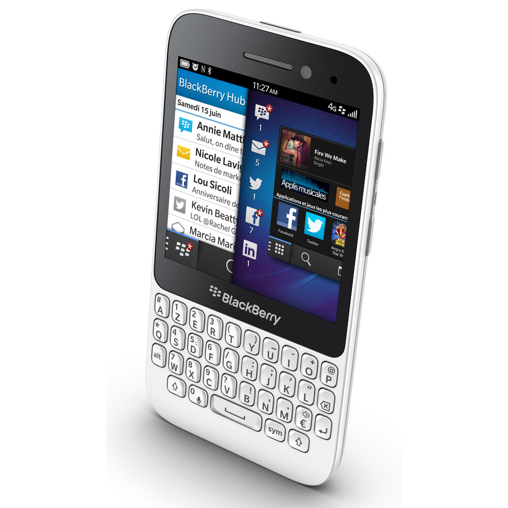 Blackberry q5 blanc mobile smartphone blackberry sur for Photo ecran blackberry
