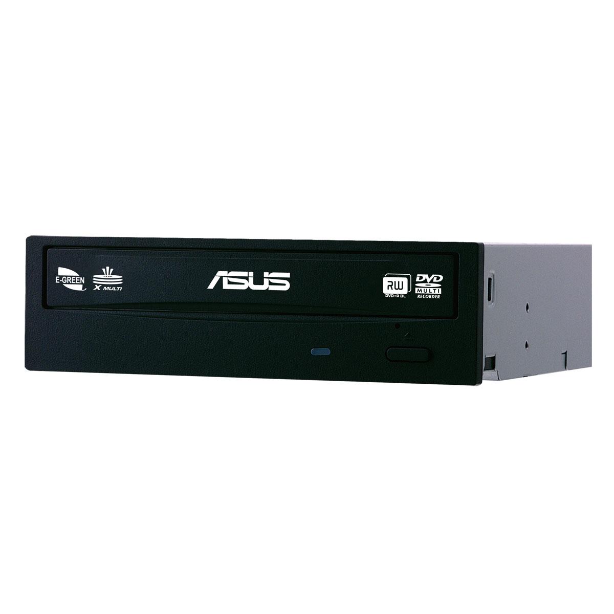 Lecteur graveur ASUS DRW-24B5ST (bulk) DVD(+/-)RW/RAM 24/8/24/6/5x DL(+/-) 8/8x CD-RW 48/24/48x SATA - Noir (bulk)