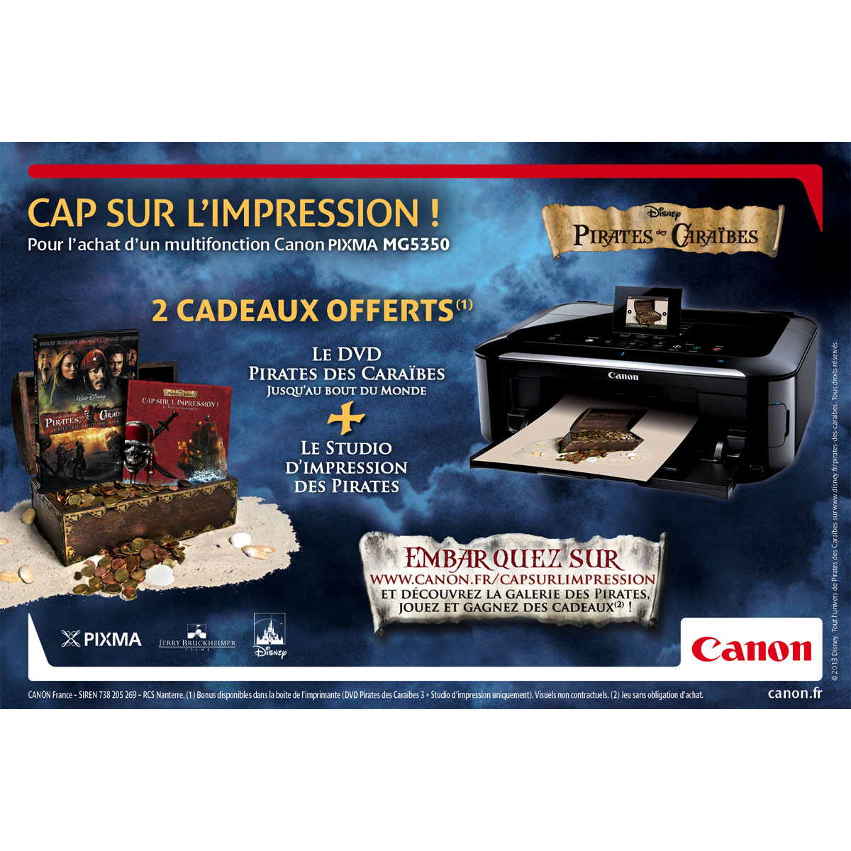 canon pixma mg5350 pirates des cara bes imprimante. Black Bedroom Furniture Sets. Home Design Ideas