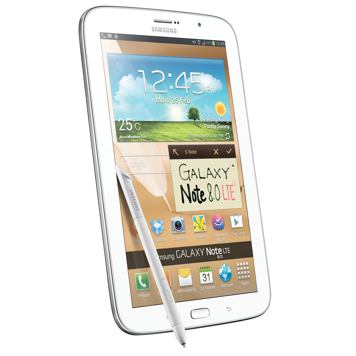 samsung galaxy note 8 lte gt n5120 16 go blanc tablette. Black Bedroom Furniture Sets. Home Design Ideas