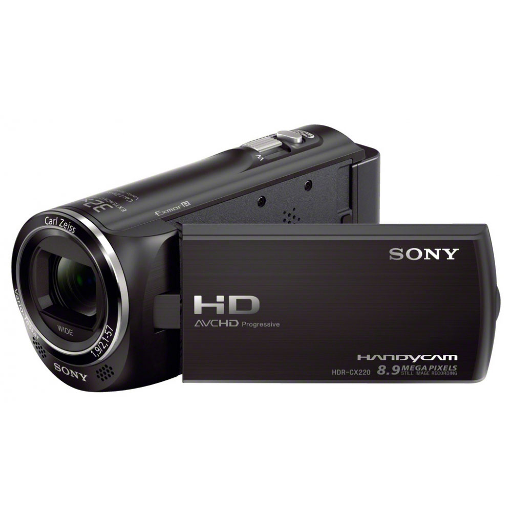 sony hdr cx220 noir cam scope num rique sony sur. Black Bedroom Furniture Sets. Home Design Ideas