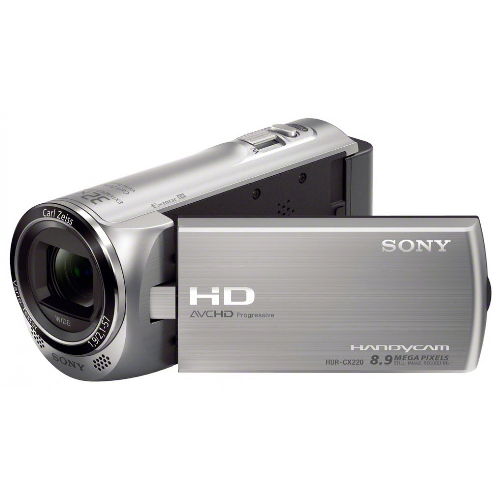 sony hdr cx220 argent cam scope num rique sony sur. Black Bedroom Furniture Sets. Home Design Ideas