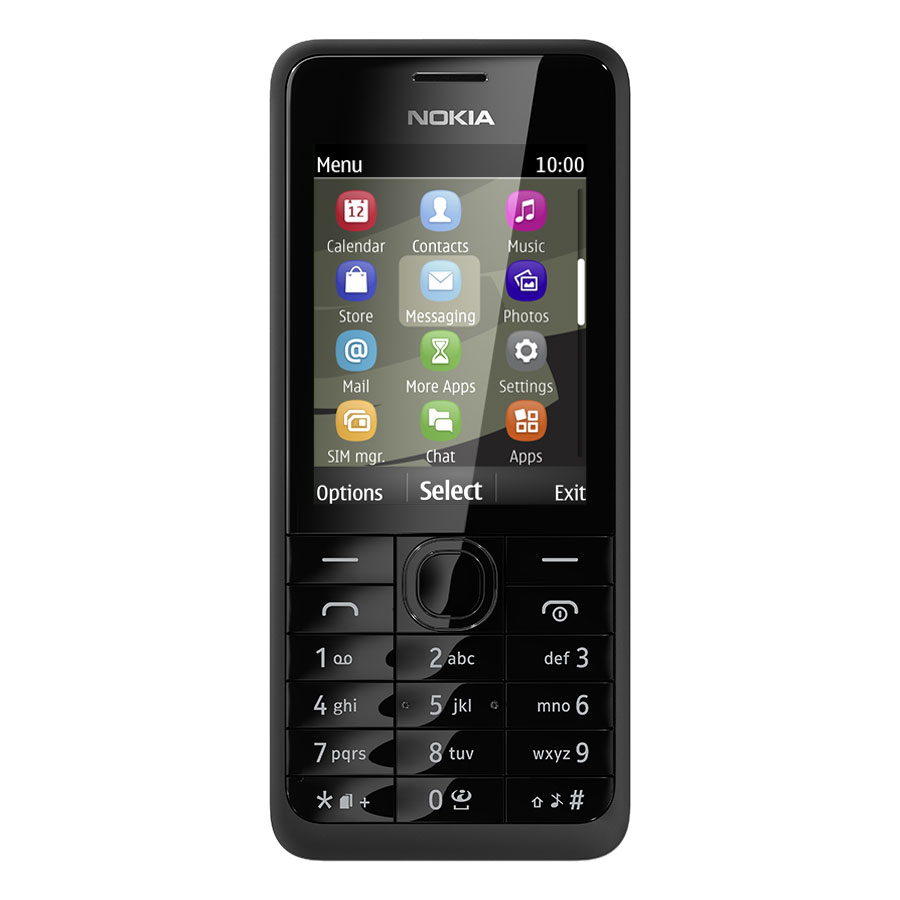 nokia 301 double sim noir mobile smartphone nokia sur. Black Bedroom Furniture Sets. Home Design Ideas