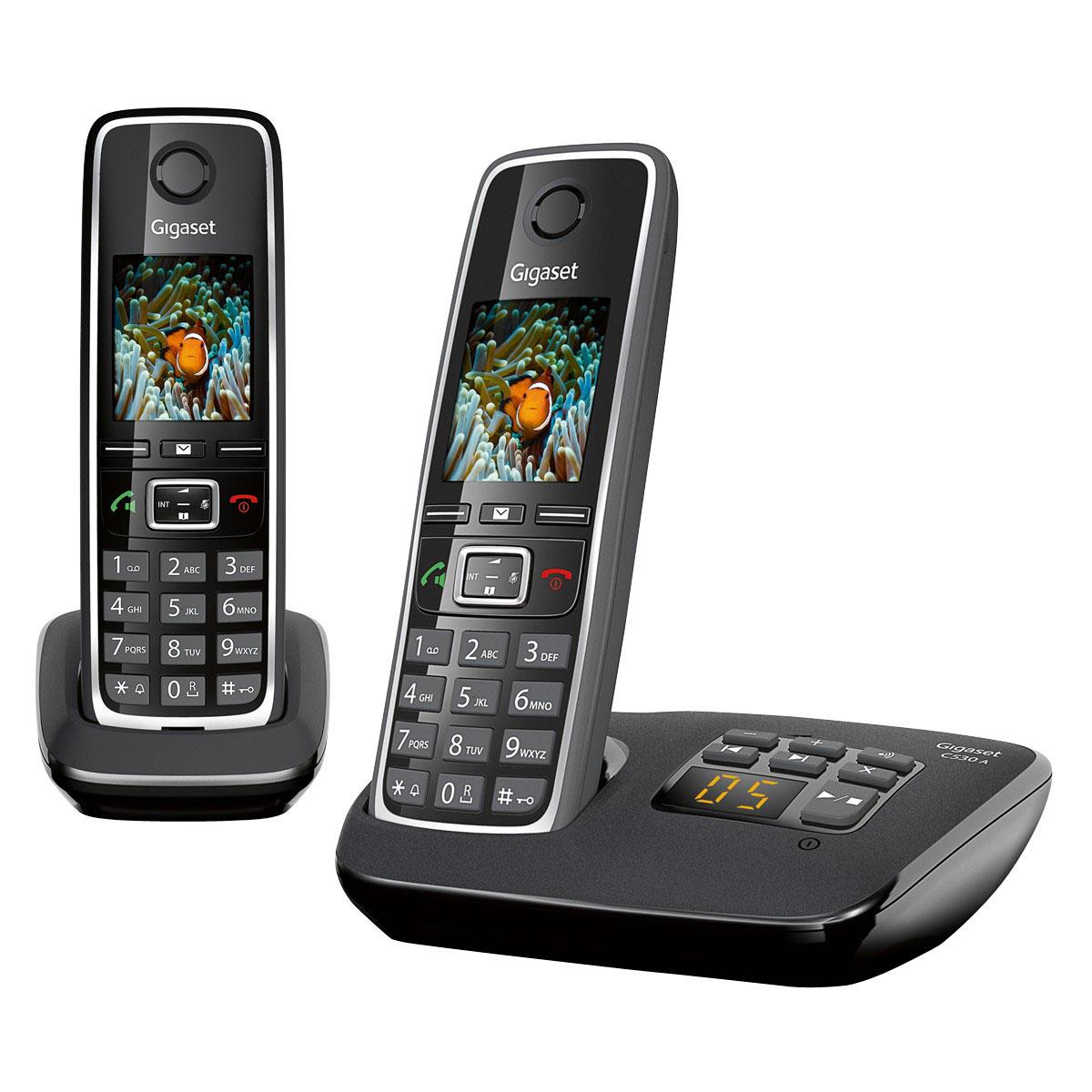 Gigaset c530a duo t l phone sans fil gigaset sur - Telephone sans fil avec repondeur pour senior ...