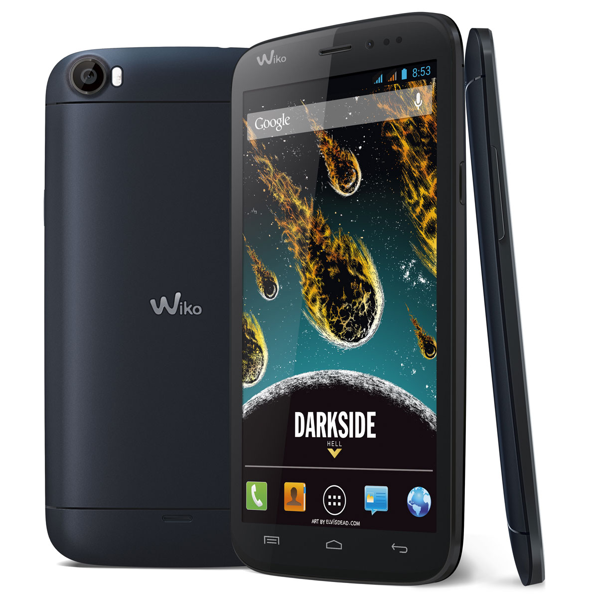 "Mobile & smartphone Wiko Darkside Dark Blue Smartphone 3G+ Dual Sim avec écran tactile HD 5.7"" sous Android 4.2"