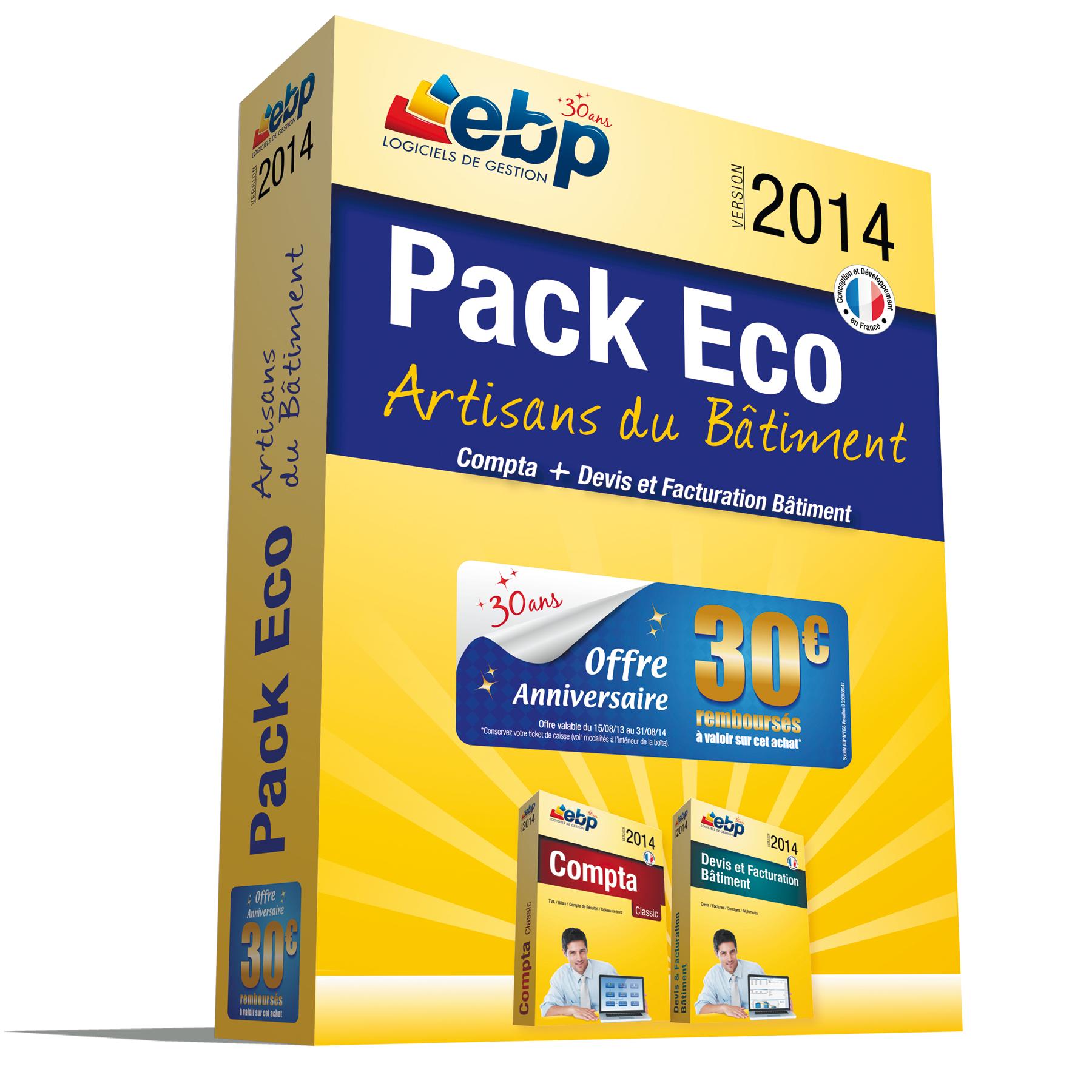 Ebp pack eco artisans du b timent 2014 logiciel - Materiel de bureau comptabilite ...