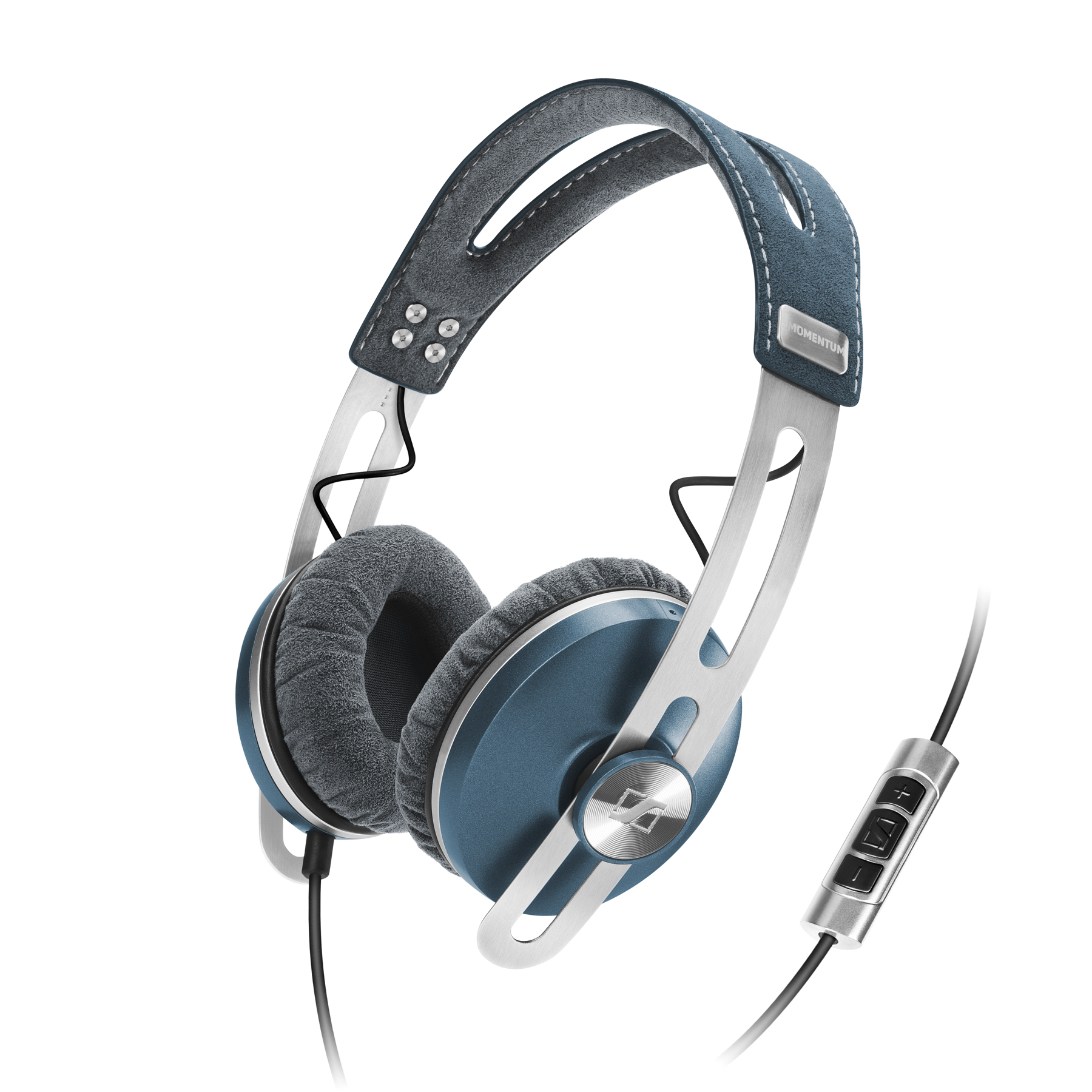 sennheiser momentum on ear bleu casque sennheiser sur. Black Bedroom Furniture Sets. Home Design Ideas