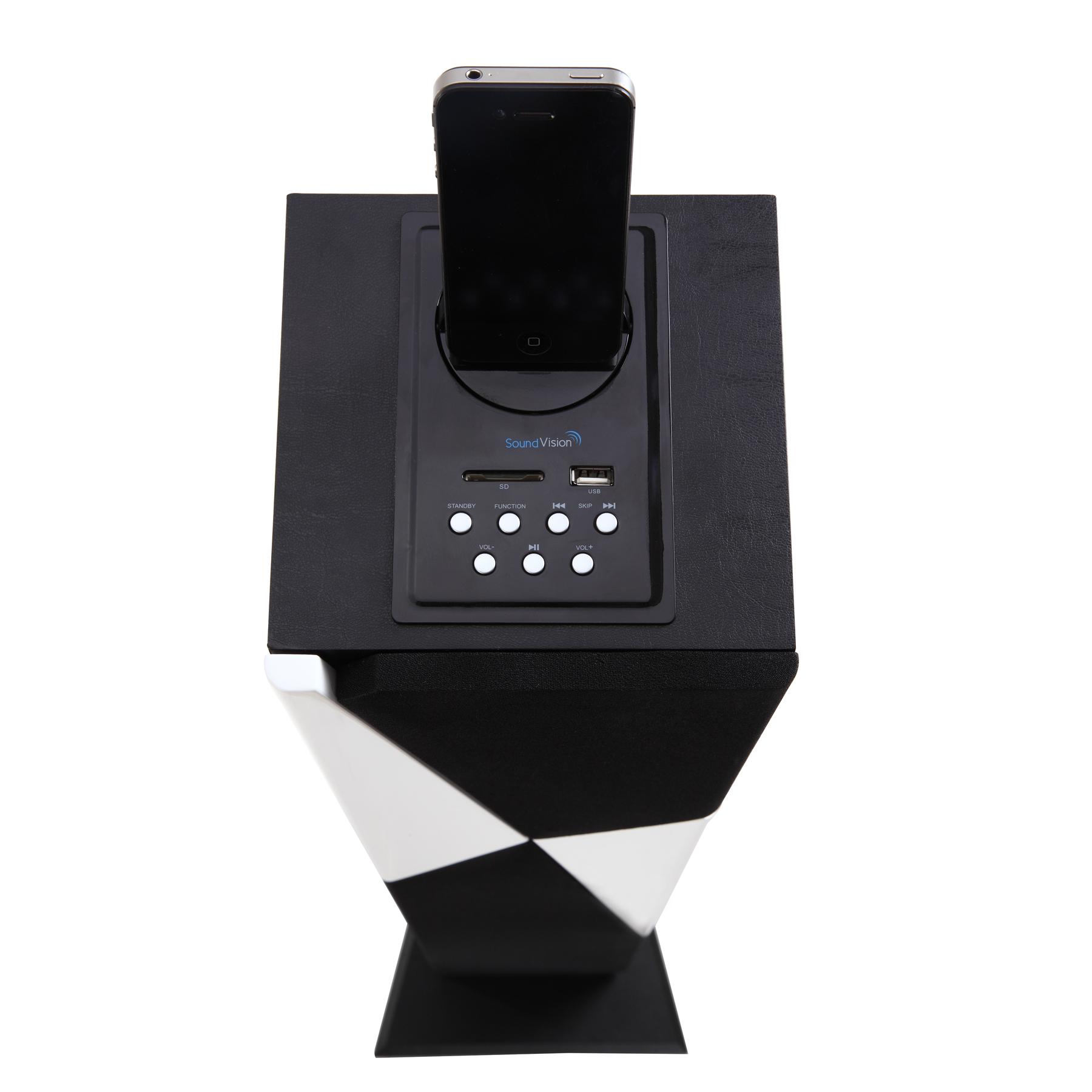 soundvision sv t21 bt blanc rouge dock enceinte. Black Bedroom Furniture Sets. Home Design Ideas