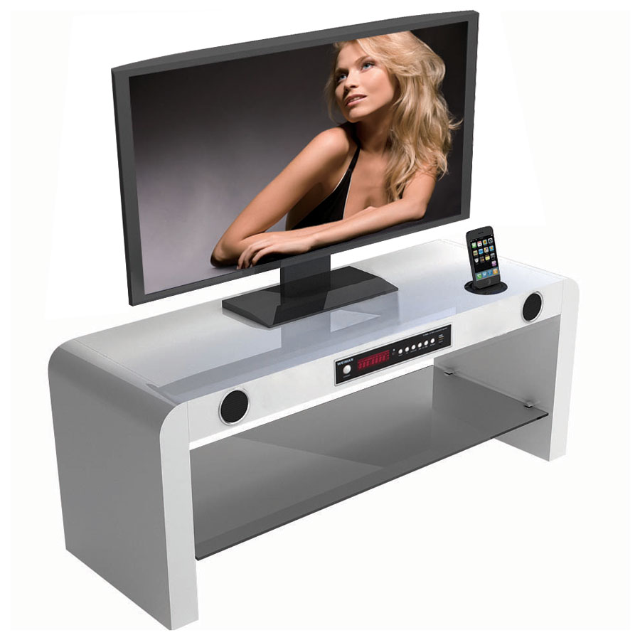 Soundvision Sv 70 Bt Blanc Ensemble Home Cin Ma Soundvision Sur  # Meuble Tv Barre De Son Integree