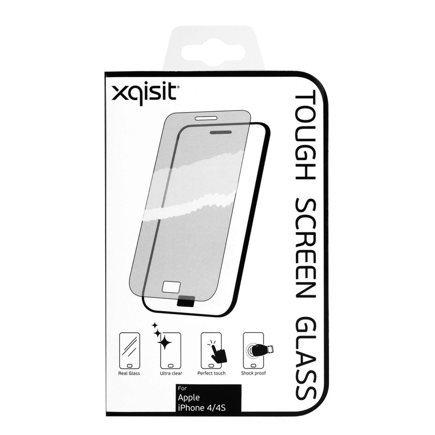 xqisit vitre de protection pour iphone 4 4s accessoires iphone xqisit sur. Black Bedroom Furniture Sets. Home Design Ideas