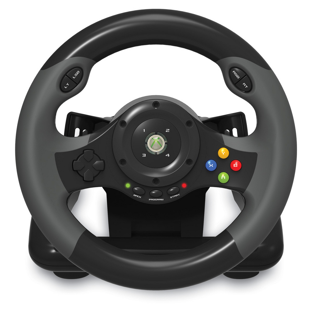 hori racing wheel ex pc xbox 360 accessoires xbox 360 hori sur. Black Bedroom Furniture Sets. Home Design Ideas