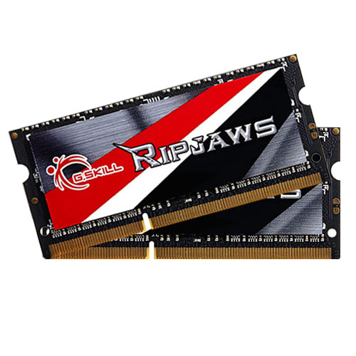 Mémoire PC portable G.Skill RipJaws SO-DIMM 16 Go (2 x 8 Go) DDR3L 1600 MHz CL9 Kit Dual Channel DDR3 PC3-12800 - F3-1600C9D-16GRSL (garantie à vie par G.Skill)