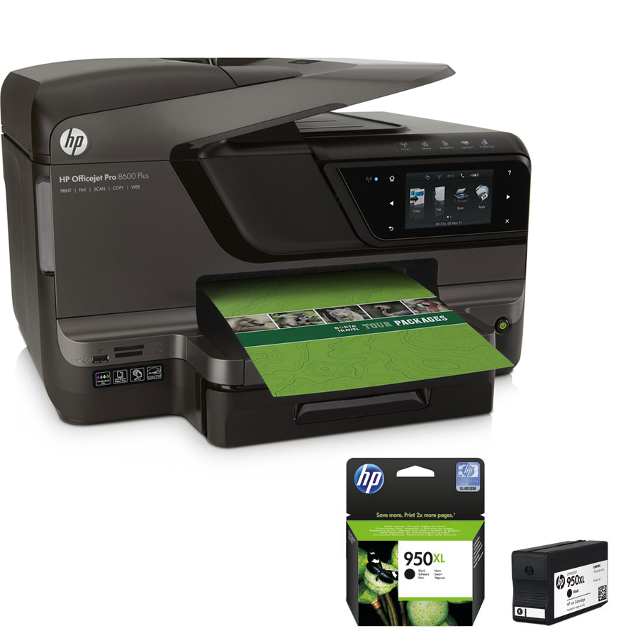 hp officejet pro 8600 plus cartouche hp 950 xl noire imprimante multifonction hp sur. Black Bedroom Furniture Sets. Home Design Ideas