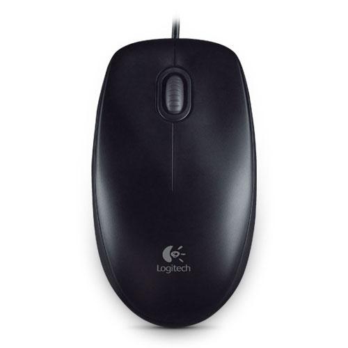 Souris PC Logitech B100 Optical USB Mouse (Noir) Souris filaire - ambidextre - capteur optique 800 dpi - 3 boutons