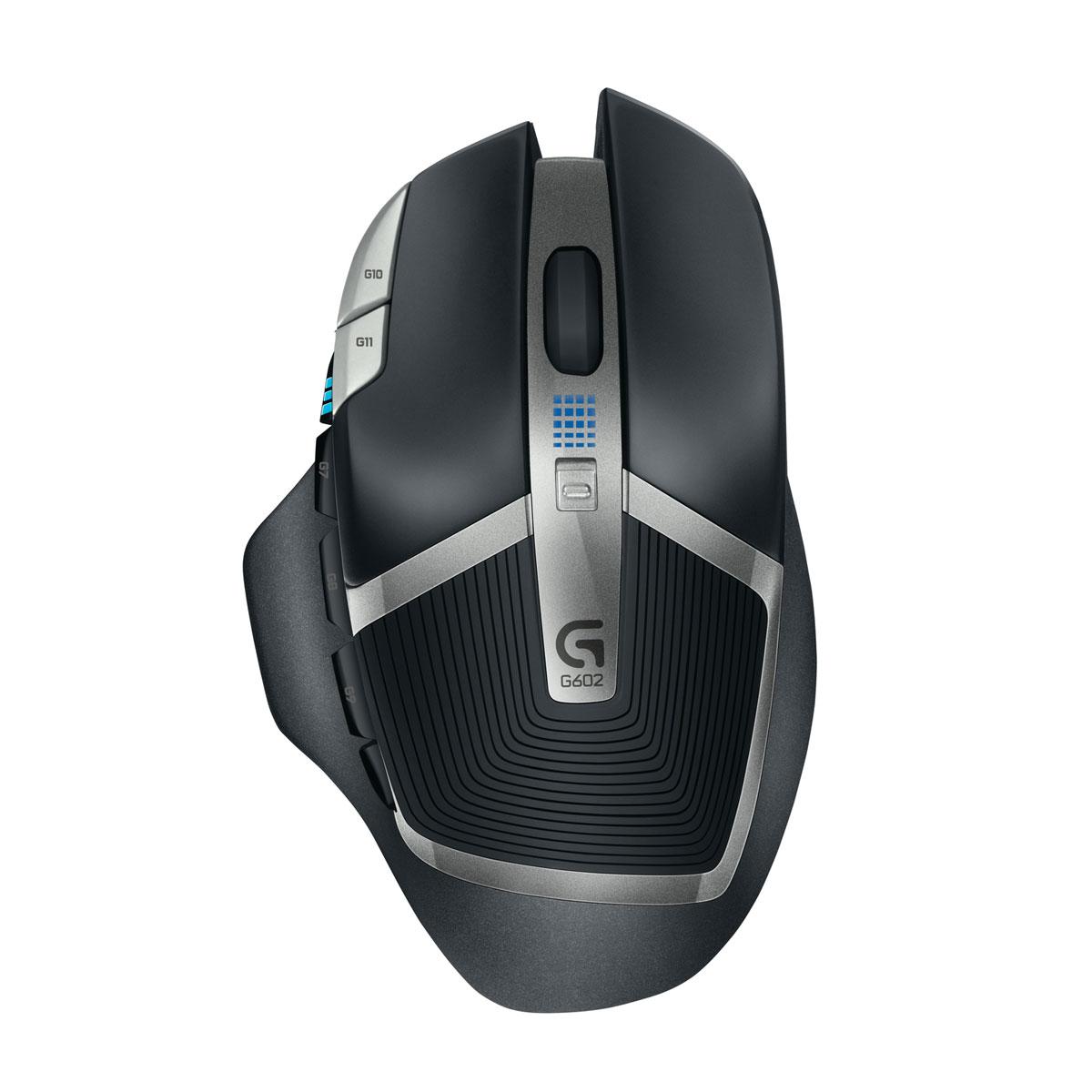 Souris PC Logitech G602 Wireless Gaming Mouse Souris sans fil pour gamer - droitier - capteur laser 2500 dpi - 11 boutons programmables