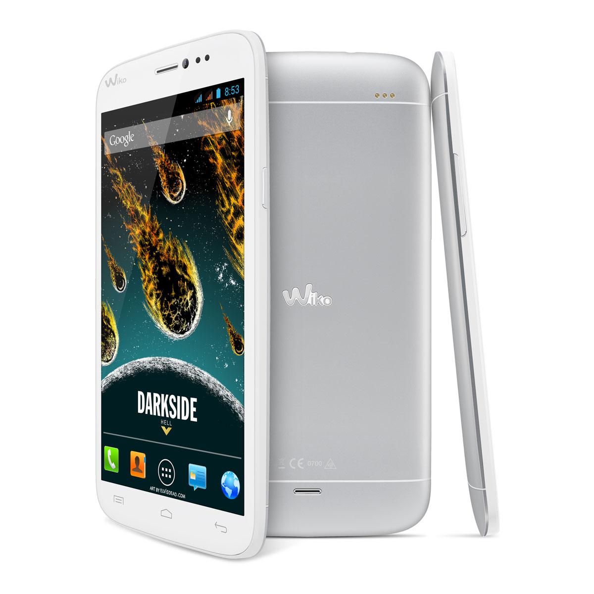 Wiko darkside white silver mobile smartphone wiko sur for Photo ecran wiko