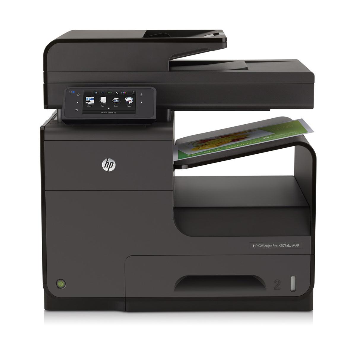 Imprimante multifonction HP Officejet Pro X576dw Imprimante Multifonction jet d'encre couleur 4-en-1 (USB 2.0 / Ethernet / Wi-Fi)