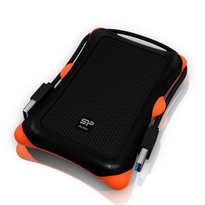 """Disque dur externe Silicon Power Armor A30 1 To Noir (USB 3.0) Disque dur externe 2.5"""" sur port USB 3.0"""